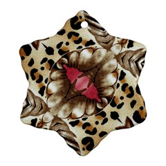 Animal Tissue And Flowers Snowflake Ornament (Two Sides)