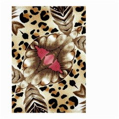 Animal Tissue And Flowers Small Garden Flag (two Sides)