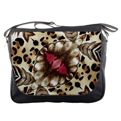 Animal Tissue And Flowers Messenger Bags