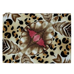 Animal Tissue And Flowers Cosmetic Bag (xxl)