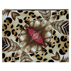Animal Tissue And Flowers Cosmetic Bag (xxxl)