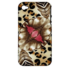 Animal Tissue And Flowers Apple Iphone 4/4s Hardshell Case (pc+silicone)