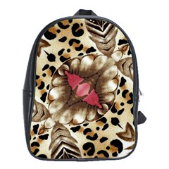 Animal Tissue And Flowers School Bags (xl)