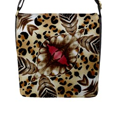 Animal Tissue And Flowers Flap Messenger Bag (l)