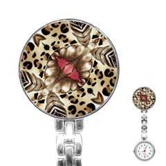 Animal Tissue And Flowers Stainless Steel Nurses Watch