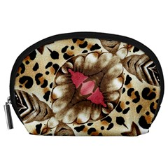 Animal Tissue And Flowers Accessory Pouches (large)