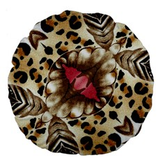 Animal Tissue And Flowers Large 18  Premium Flano Round Cushions