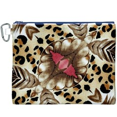 Animal Tissue And Flowers Canvas Cosmetic Bag (xxxl)