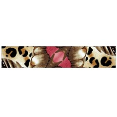 Animal Tissue And Flowers Flano Scarf (large)