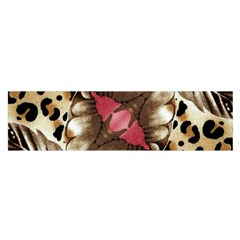 Animal Tissue And Flowers Satin Scarf (oblong)
