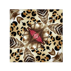 Animal Tissue And Flowers Small Satin Scarf (square)
