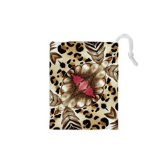 Animal Tissue And Flowers Drawstring Pouches (xs)