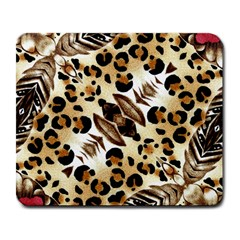 Background Fabric Animal Motifs And Flowers Large Mousepads