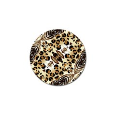 Background Fabric Animal Motifs And Flowers Golf Ball Marker (10 Pack)