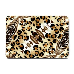 Background Fabric Animal Motifs And Flowers Small Doormat