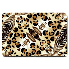 Background Fabric Animal Motifs And Flowers Large Doormat