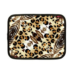 Background Fabric Animal Motifs And Flowers Netbook Case (small)