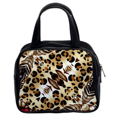 Background Fabric Animal Motifs And Flowers Classic Handbags (2 Sides)