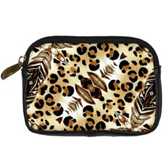 Background Fabric Animal Motifs And Flowers Digital Camera Cases