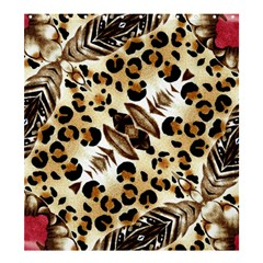 Background Fabric Animal Motifs And Flowers Shower Curtain 66  X 72  (large)
