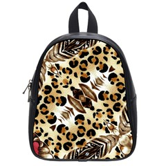 Background Fabric Animal Motifs And Flowers School Bags (small)