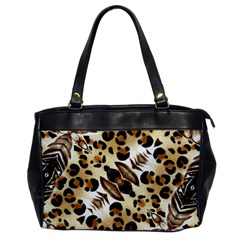 Background Fabric Animal Motifs And Flowers Office Handbags