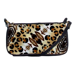 Background Fabric Animal Motifs And Flowers Shoulder Clutch Bags
