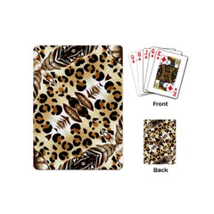 Background Fabric Animal Motifs And Flowers Playing Cards (mini)