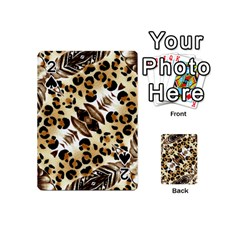 Background Fabric Animal Motifs And Flowers Playing Cards 54 (mini)
