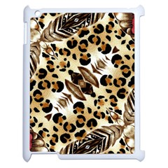Background Fabric Animal Motifs And Flowers Apple Ipad 2 Case (white)