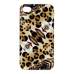 Background Fabric Animal Motifs And Flowers Apple Iphone 4/4s Hardshell Case