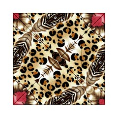 Background Fabric Animal Motifs And Flowers Acrylic Tangram Puzzle (6  X 6 )