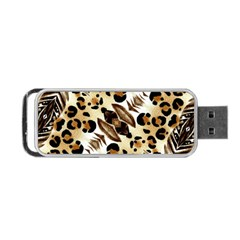 Background Fabric Animal Motifs And Flowers Portable Usb Flash (one Side)