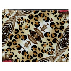 Background Fabric Animal Motifs And Flowers Cosmetic Bag (xxxl)