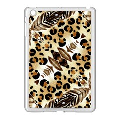 Background Fabric Animal Motifs And Flowers Apple Ipad Mini Case (white)