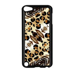 Background Fabric Animal Motifs And Flowers Apple Ipod Touch 5 Case (black)