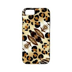 Background Fabric Animal Motifs And Flowers Apple Iphone 5 Classic Hardshell Case (pc+silicone)