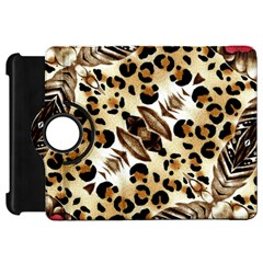 Background Fabric Animal Motifs And Flowers Kindle Fire Hd 7