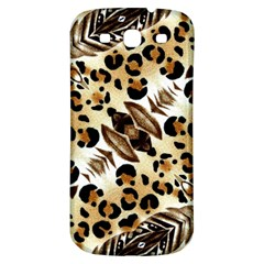 Background Fabric Animal Motifs And Flowers Samsung Galaxy S3 S Iii Classic Hardshell Back Case