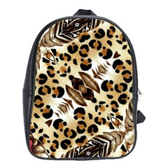 Background Fabric Animal Motifs And Flowers School Bags (xl)
