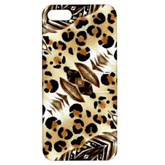 Background Fabric Animal Motifs And Flowers Apple Iphone 5 Hardshell Case With Stand