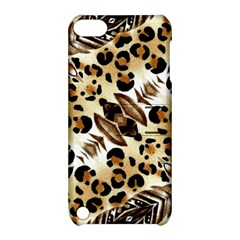 Background Fabric Animal Motifs And Flowers Apple Ipod Touch 5 Hardshell Case With Stand