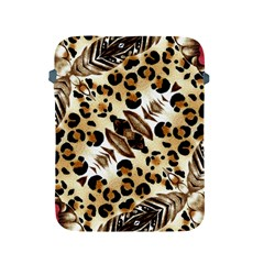 Background Fabric Animal Motifs And Flowers Apple Ipad 2/3/4 Protective Soft Cases