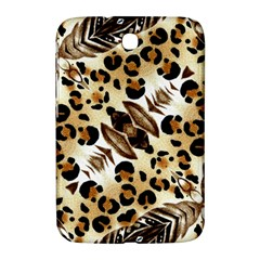 Background Fabric Animal Motifs And Flowers Samsung Galaxy Note 8.0 N5100 Hardshell Case