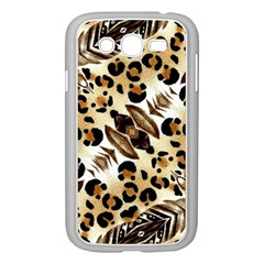 Background Fabric Animal Motifs And Flowers Samsung Galaxy Grand Duos I9082 Case (white)