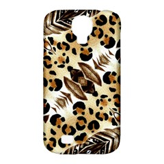 Background Fabric Animal Motifs And Flowers Samsung Galaxy S4 Classic Hardshell Case (pc+silicone)