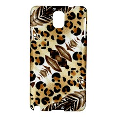 Background Fabric Animal Motifs And Flowers Samsung Galaxy Note 3 N9005 Hardshell Case