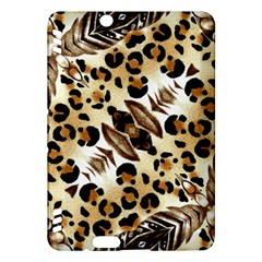 Background Fabric Animal Motifs And Flowers Kindle Fire Hdx Hardshell Case