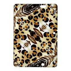 Background Fabric Animal Motifs And Flowers Kindle Fire HDX 8.9  Hardshell Case
