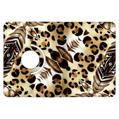 Background Fabric Animal Motifs And Flowers Kindle Fire Hdx Flip 360 Case